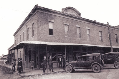 Historic photo of first CNB building